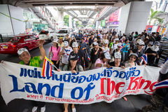 Guy Fawkes anti corruption in Thailand Royalty Free Stock Photography