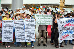 Guy Fawkes anti corruption in Thailand Stock Photography