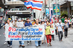 Guy Fawkes anti corruption in Thailand Stock Image