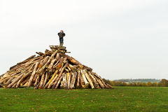 Guy Fawkes bonfire Royalty Free Stock Images