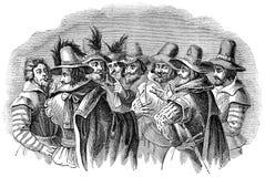 Guy Fawkes e seus conspiradores companheiros ilustração do vetor
