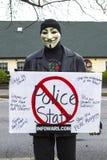 Guy Fawkes maskował mężczyzna Fotografia Royalty Free