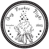 Guy Fawkes Night stock de ilustración