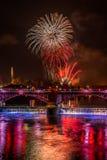 Guy Fawkes night Firework display at Glasgow Green stock photos