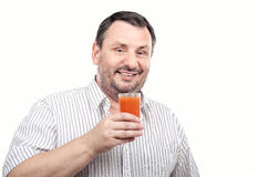 Guy is fond of cleansing smoothie Royalty Free Stock Photo