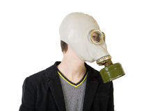 Guy in gas mask Royalty Free Stock Image