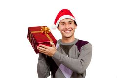 The guy with a gift Stock Photos