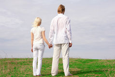 Guy and girl Royalty Free Stock Images