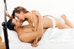 Guy and girl having sex Royalty Free Stock Image