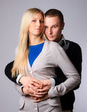 Guy and girl hugging Stock Images