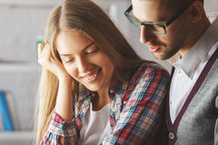 Guy and girl portrait Royalty Free Stock Photography