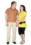 Guy and the girl on a white background Royalty Free Stock Photos