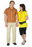 Guy and the girl on a white background Stock Photo