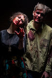 Guy and girl zombie Stock Photos