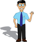 Guy in glasses. Cartoon of a smart looking guy Royalty Free Stock Photography