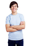 Guy in glasses with crossed arms Stock Photo