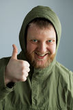 The guy in the green jacket Royalty Free Stock Photos