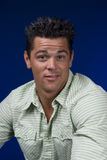 Guy in green shirt stock photo