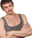Guy in grey vest Stock Images