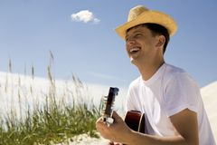 Guy with guitar Royalty Free Stock Images
