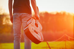 Guy with guitar Royalty Free Stock Photography