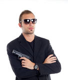 Guy with gun stock photography