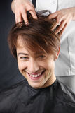 The guy at the hairdresser Royalty Free Stock Photos