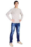 Guy with hands on hips Royalty Free Stock Images