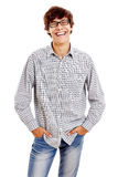 Guy with hands in pockets Stock Photo