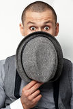Guy with hat Royalty Free Stock Image