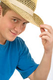 Guy in hat Royalty Free Stock Photo