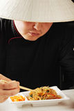 Guy having meal Stock Images