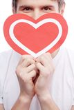 Guy with heart Stock Image