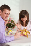 Guy and his girlfriend Stock Photography