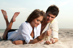 Guy and his girlfriend. Are on the beach Stock Photo
