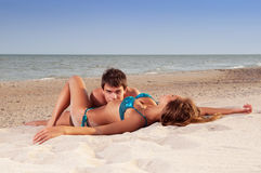 Guy and his girlfriend Royalty Free Stock Images