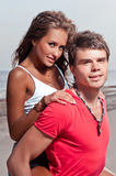 Guy and his girlfriend Royalty Free Stock Photography