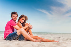 Guy and his girlfriend Stock Image