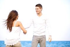 Guy with His Girlfriend Enjoying the Outdoors Royalty Free Stock Photography