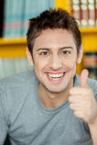 Guy with his thumb up. Young man with his thumb up Royalty Free Stock Images