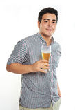 Guy hold beer Stock Photography