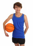 Guy holding basketball Royalty Free Stock Images