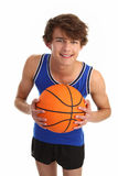 Guy holding basketball Royalty Free Stock Photography