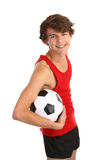 Guy holding football Stock Photo