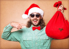Guy holding a gift Royalty Free Stock Photos