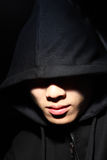 Guy in a hood Royalty Free Stock Image