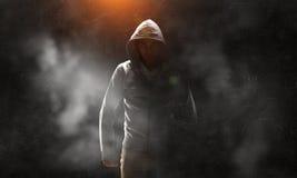 Guy in hoody. Mixed media Royalty Free Stock Photo