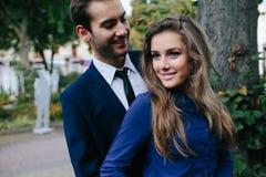 Guy hugging his girlfriend Royalty Free Stock Photos