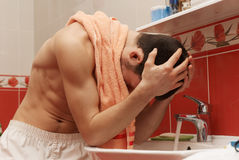 Guy In The Bath Stock Image