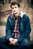 Guy in jeans clothes Royalty Free Stock Photos